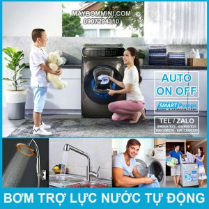 Bom Nuoc Tu Dong Tro Luc May Giat Gia Dinh